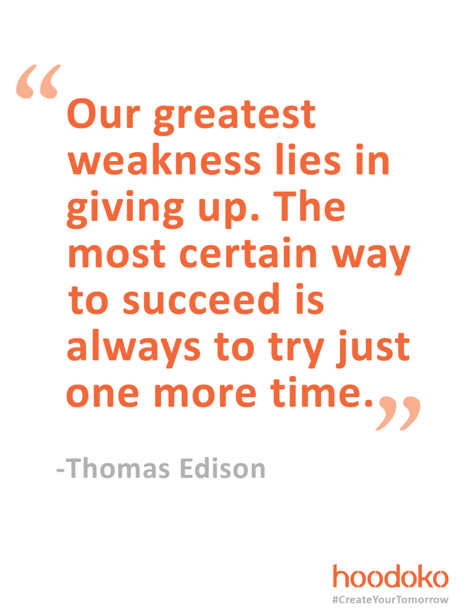Midweek Motivation from Thomas Edison
